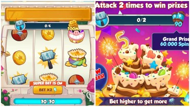 Coin Master Attack Madness Cake Crush