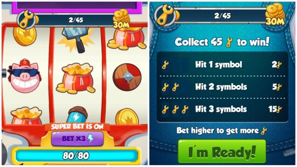 Coin Master Wild For Work Spin board and Event Requirements, FILGA