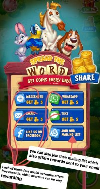 Spread The word, Get Coins Every Day Free gift Reward
