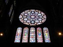 CHARTRES: rozeta południowa transeptu / rose of the south transept
