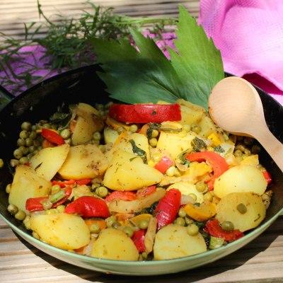 Kartoffel –  Gemüsepfanne