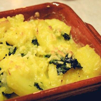 Kartoffel-Spinat-Auflauf