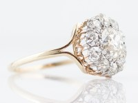 Antique Engagement Ring Victorian 1.09 Old Mine Cushion ...