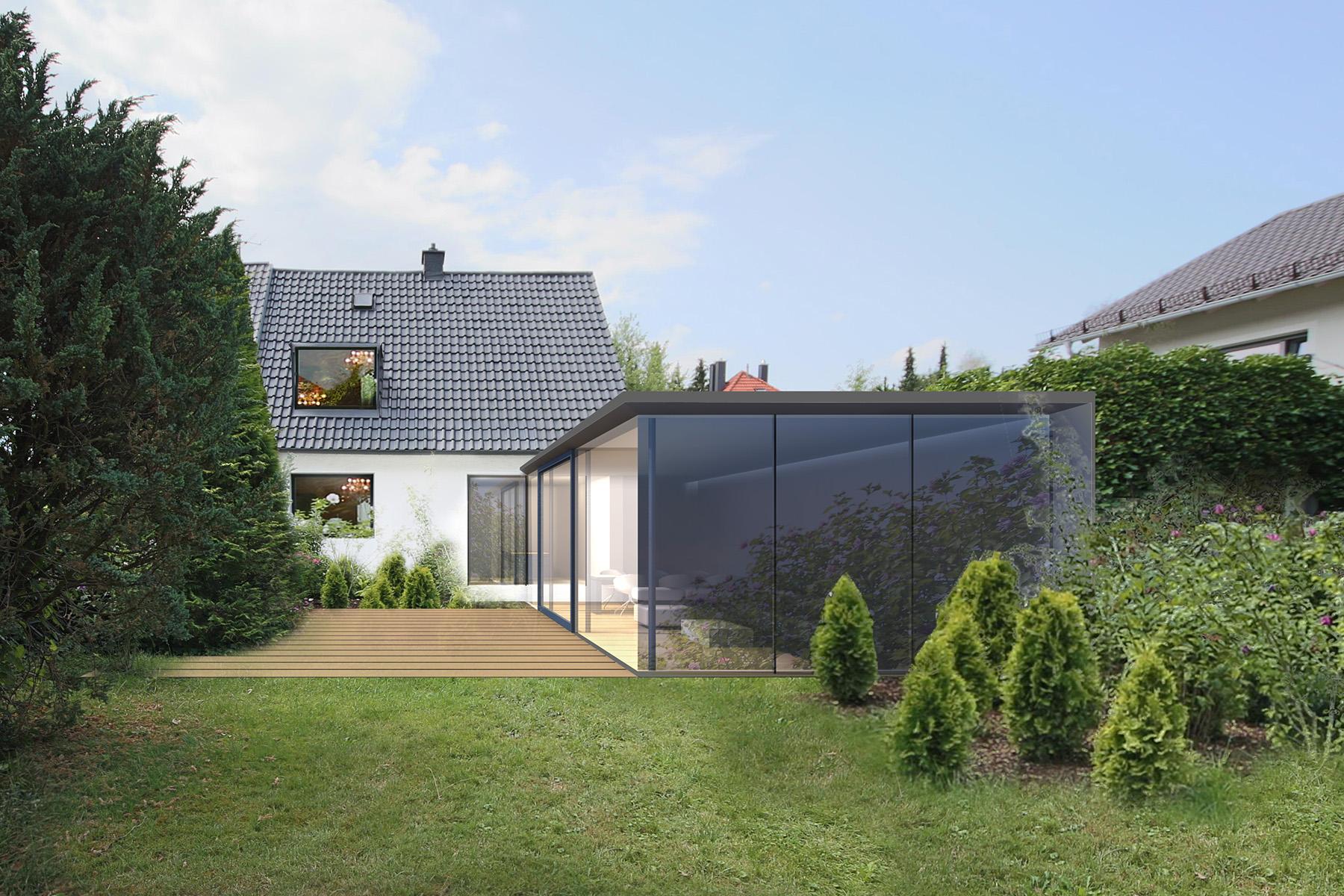 Anbau an ein Einfamilienhaus in München Waldperlach - Architekt in München