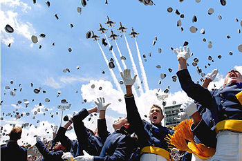English: Cadets of the Air Force Academy Class...