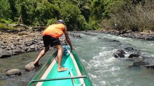 Stroomversnelling Pagsanjan River - Laguna, Luzon, Filipijnen
