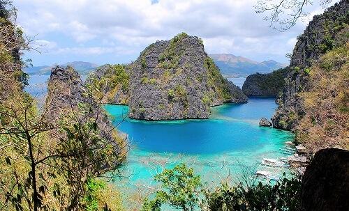 Uitzichtpunt bij Kayangan Lake - Coron Island, Palawan, Filipijnen