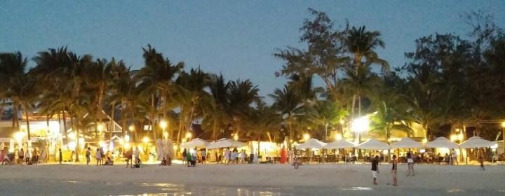 Begin van de avond op Boracay