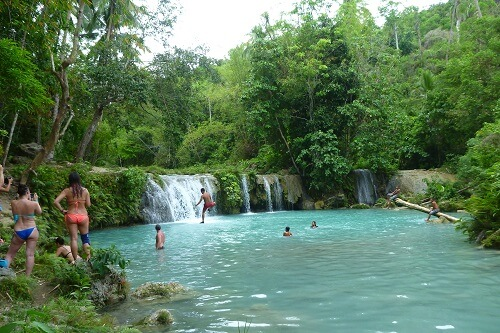 Cambugahay Watervallen - Siquijor, Central Visayas, Filipijnen