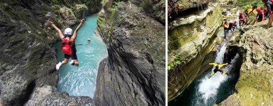 Canyoning Badian - Kawasan Falls, Cebu, Filipijnen