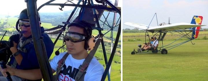 Vliegen in een ultralicht vliegtuigje - Filipijnen