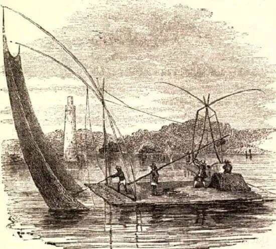 Salambao fishing raft in Pasig River