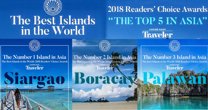 Top Best Islands in World: Siargao, Boracay, and Palawan Condé Nast Traveler 2018 Readers' Choice Awards