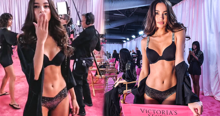 WATCH: Kelsey Merritt is a first Filipina to walk in Victoria's Secret runway Fashion Show!