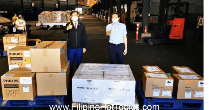 PH receives 40,000 new sets of COVID-19 testing kits and ventilators from Singapore
