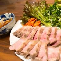 【絶品】低温調理した豚バラ肉で作るポッサムが旨すぎて夫婦で480g食べました。