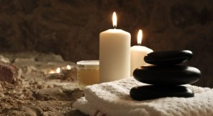 candles and stones