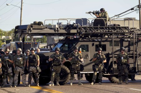 Ferguson militarized riot police