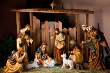 indoor nativity scene