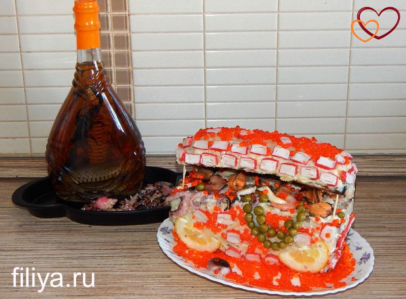 お祝いテーブル写真のサラダの登録