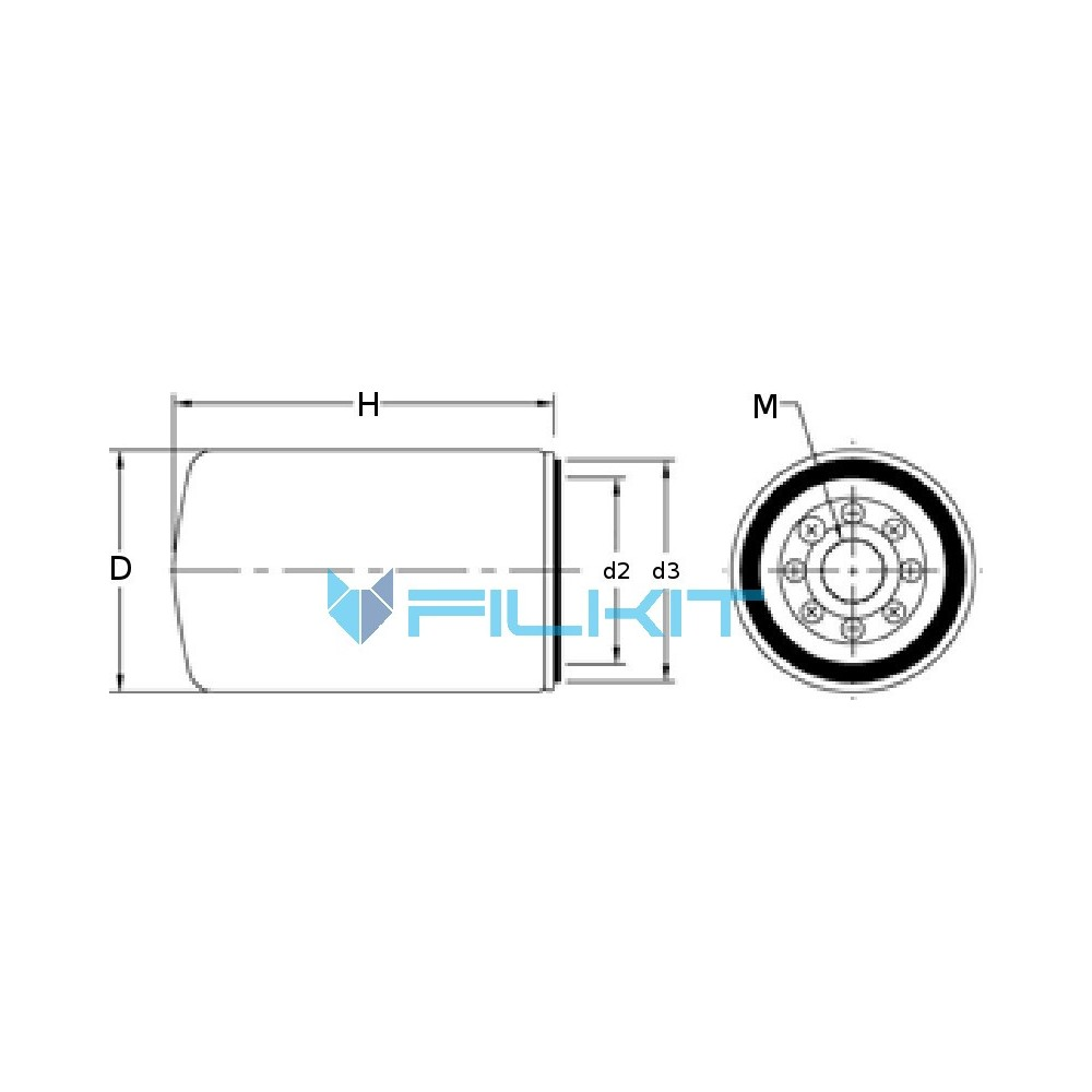 Fuel filter 95107E [WIX], OEM: 95107E WIX, for IVECO, New