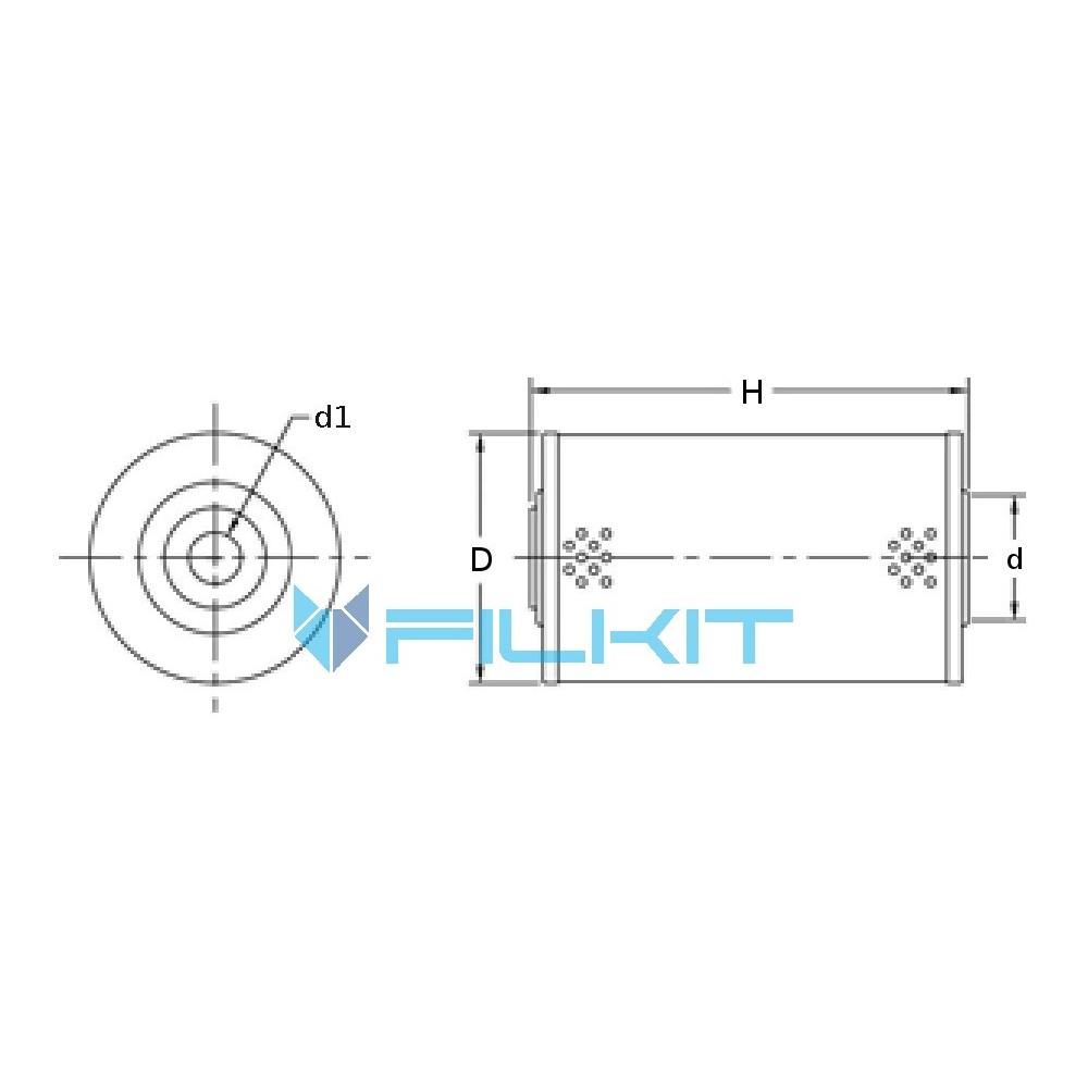 Oil filter (insert) 57609Е [WIX], OEM: 57609E, 133629 WIX