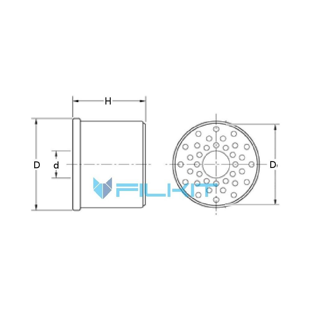Fuel filter (insert) 33166E [WIX], OEM: 33166E, 26561117