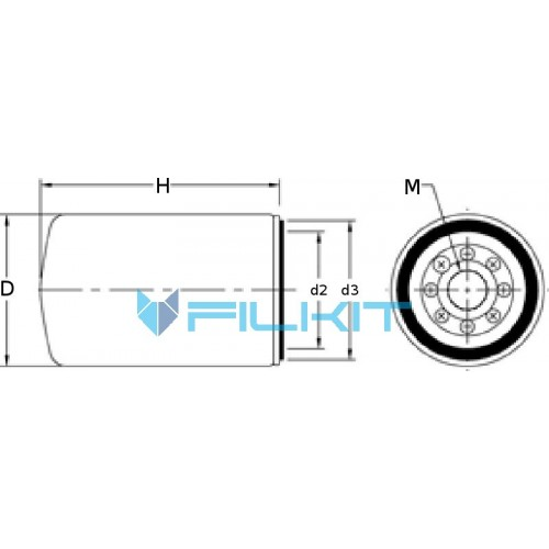 Filter on Engine Caterpillar 3516B, Select filter for