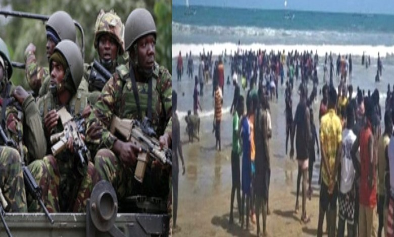 Soldiers Storm Chorkor To Discipline Resident Who Ignored Lockdown Directive To Chill At Beach