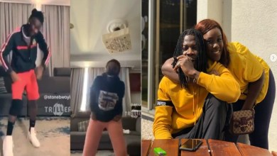 Video Of Stonebwoy, Wife Louisa And Children In A Dance Battle To His 'Nominate' Song Drops
