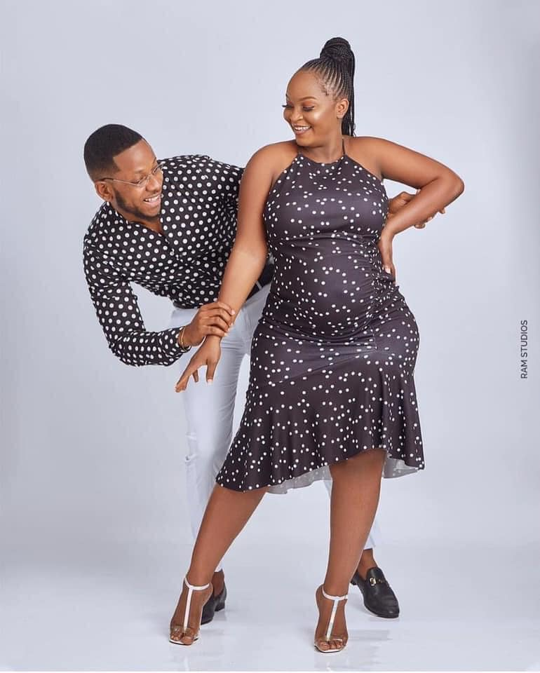 baby bump photos of Eyram, the girlfriend and baby mother of YOLO star, Cyril - Aaron Adatsi