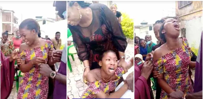 Drama As Lady Cries Bitterly While Taking Injection - Video