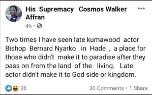 Bishop Bernard Nyarko and cosmos afran