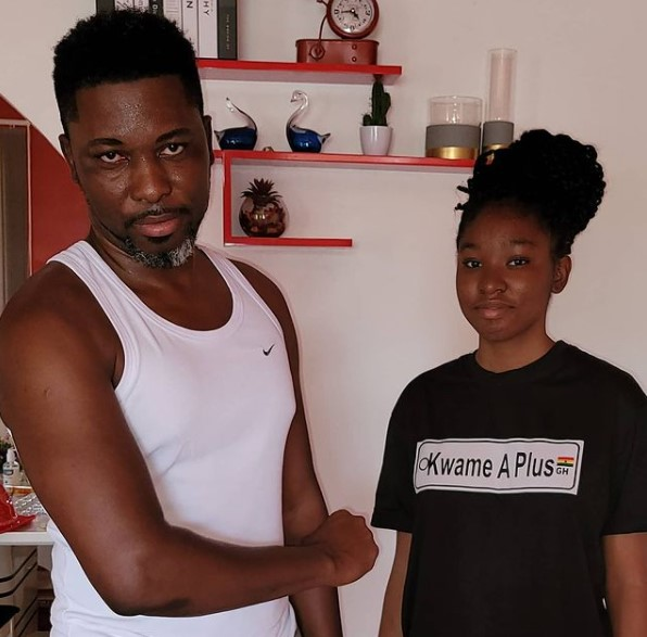 Kwame A plus and daughter