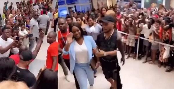 Jackie Appiah mobbed