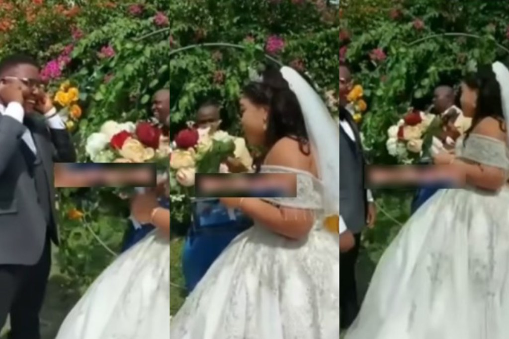 Bride issues warning to groom