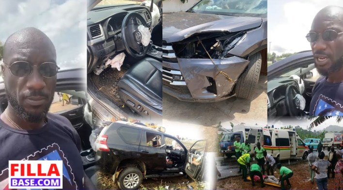 Sad news coming in has it that Ghanaian musician Kwabena Kwabena accident on the Kumasi Highway