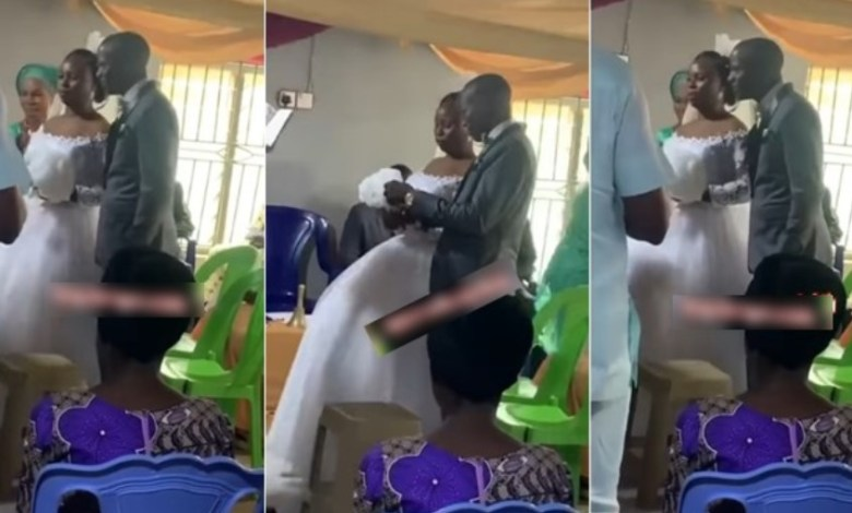 Bride Frowns On Wedding Day And Refuses To Kiss Her Groom