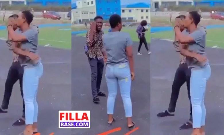 lady slaps boyfriend