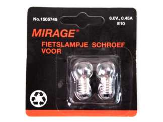 Mirage E10 6V 0.45A 3W dynamovalon lamput eteen