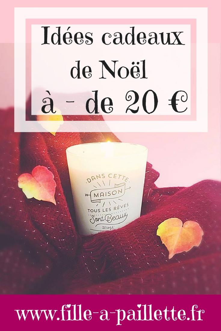 idées de cadeaux de Noël à - de 20€