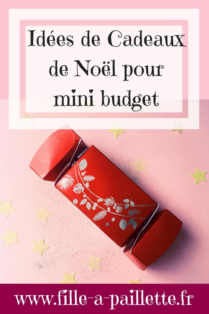 idées cadeaux de Noël pour mini budget