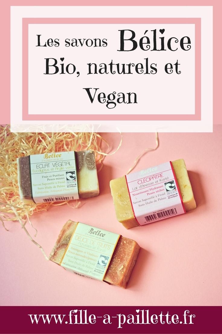 Les savons Bélice, Bio, naturels et vegan