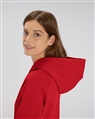 capuche sweat shirt femme motarde rouge