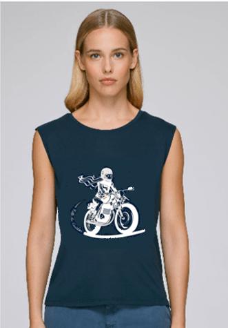 tee shirt motarde modal bleu marine