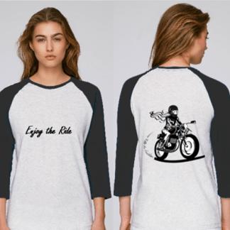 tee shirt femme motarde enjoy the ride