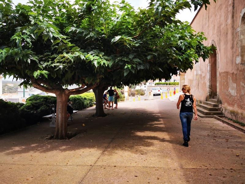 Bonifacio : fille au guidon road trip moto corse du sud