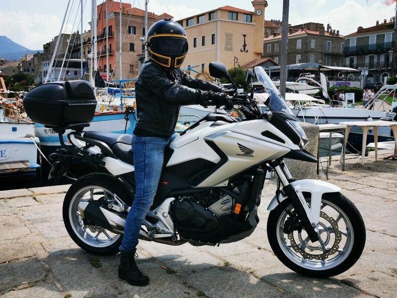 Road trip moto Corse du Sud en 750 NCX Honda