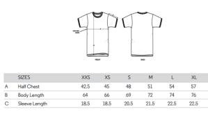 pour vous aider à trouver la bonne taille, le guide des tailles du tee shirt motarde retro fille au guidon