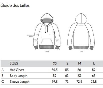 pour bien choisir son sweat motarde, mieux vaut connaitre sa taille